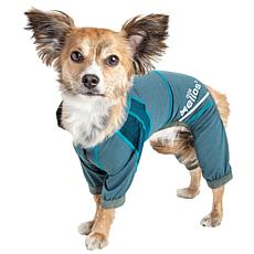 Pet Life XL 4-Way Stretch Breathable Full Body Yoga Dog Track Suit