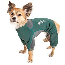 Pet Life XS 4-Way-Stretch Breathable Full Body Dog Warmup Track Suit