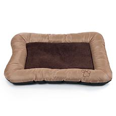 "PETMAKER 24"" x 19"" Plush and Cozy Pet Bed - Tan"