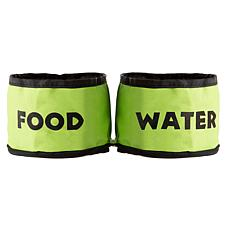 PETMAKER Collapsible Travel Pet Bowls Set of 2