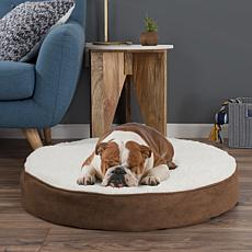 PETMAKER Memory Foam Pillow-Top Reversible Round Pet Bed