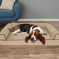 "PETMAKER Orthopedic Micro-suede Covered Pet Sofa Dog Bed - 42"" x 28"""