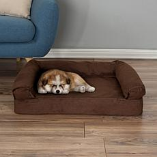 "PETMAKER Orthopedic Micro-suede Covered Pet Sofa Dog Bed-30"" x 20-1/2"""