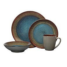Pfaltzgraff Monroe Blue 16-Piece Dinnerware Set