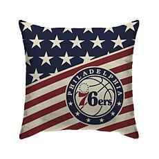 "Philadelphia 76Ers 18""X18"" Duck Cloth  Décor Pillow"