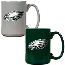 Philadelphia Eagles 2pc Coffee Mug Set