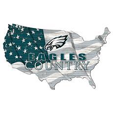 Philadelphia Eagles USA Shape Flag Cutout