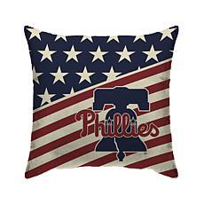 "Philadelphia Phillies 18""X18"" Duck Cloth  Décor Pillow"
