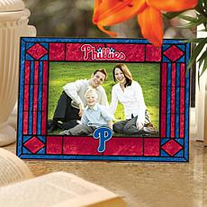 Philadelphia Phillies Art Glass Picture Frame