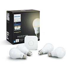 Philips Hue White A19 Starter Kit - 4 Pack