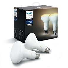 Philips Hue White Ambiance BR30 Smart LED Bulb - 2-pack
