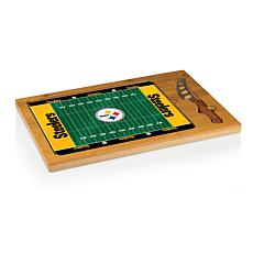 Picnic Time Glass Top Cutting Board-Pittsburgh Steelers