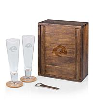 Picnic Time Officially Licensed NFL Beer Glass Gift Set - LA Rams