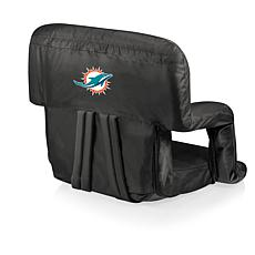 Picnic Time Ventura Folding Chair-Miami Dolphins