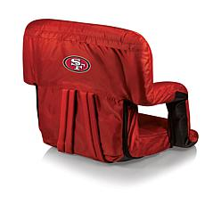 Picnic Time Ventura Folding Stadium Chair-SF. 49ers
