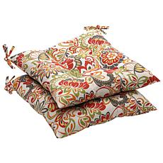 Pillow Perfect 2 Outdoor Wrought-Iron Seat Cushions
