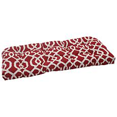Pillow Perfect Outdoor Geo Wicker Loveseat Cushion - Re