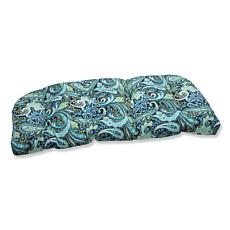 Pillow Perfect Outdoor Pretty Paisley Wicker Loveseat C