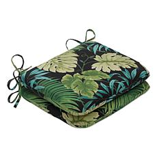 Pillow Perfect Reversible Rounded Seat Cushions - Green