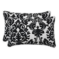 Pillow Perfect Set of 2 Essence Throw Pillows - Black
