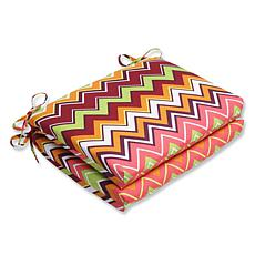 Pillow Perfect Set of 2 Outdoor Zig Zag Squared Corners