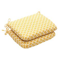 Pillow Perfect Set of 2 Seat Cushions - Yellow