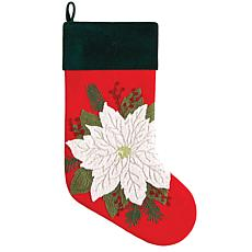 Poinsettia Stocking Red