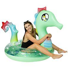 "PoolCandy Seahorse Jumbo 48"" Glitterfied Pool Tube"