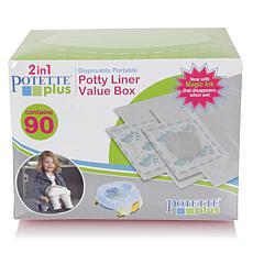 Potette by Kalencom Disposable Portable Potty Liner Value Box