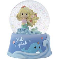Precious Moments 193102 Make A Splash Mermaid Musical Snow Globe
