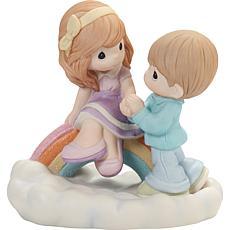 Precious Moments 202004 Couple Sitting On Rainbow Figurine