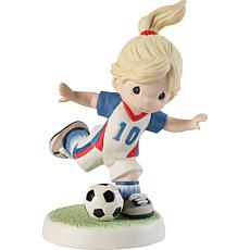 Precious Moments 202012 Girl Playing Soccer Figurine
