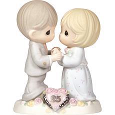 Precious Moments 25th Anniversary Bisque Porcelain Figurine
