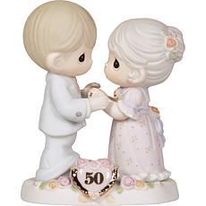 Precious Moments 50th Anniversary Bisque Porcelain Figurine