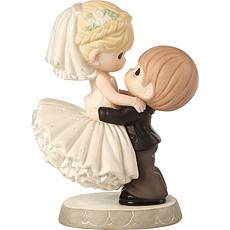 """Precious Moments """"Best Day Ever"""" Groom and Bride Wedding Cake Topper"""