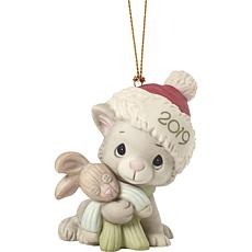 "Precious Moments ""Christmas Kitty Cuddles"" 2019 Cat Christmas Ornament"