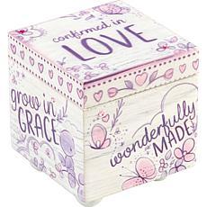 "Precious Moments ""Confirmed in Love"" Wood Keepsake Box"