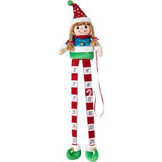 Precious Moments Elf Christmas Countdown Calendar Shelf Sitter