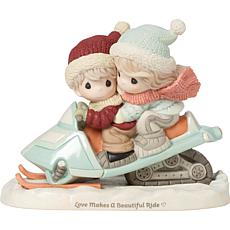 Precious Moments Love Makes a Beautiful Ride Bisque Porcelain Figur...
