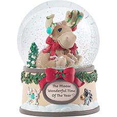 Precious Moments Moose 1st Annual Animal Musical Snow Globe