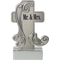 """Precious Moments """"Mr. And Mrs."""" Tabletop Cross"""