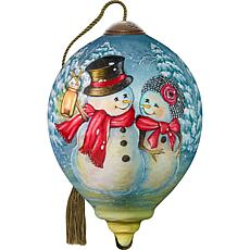Precious Moments Ne'Qwa Art Blown Glass Melt My Heart Ornament