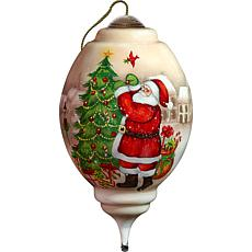 Precious Moments Ne'Qwa Art Blown Glass Santa Ornament