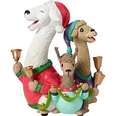 Precious Moments Shama Llama Ding Dong Resin Musical Figurine