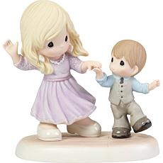 PreciousMoments Positive Spin Mother And Son Dancing Porcelain Figure