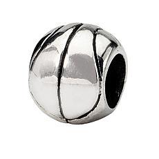 Prerogatives Sterling Silver Basketball Bead