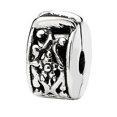 Prerogatives Sterling Silver Hinged Floral and Vine Clip Bead