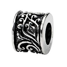 Prerogatives Sterling Silver Hinged Floral Bead