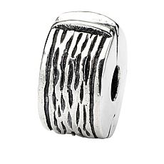 Prerogatives Sterling Silver Hinged Pattern Clip Bead