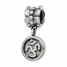 Prerogatives Sterling Silver Om Symbol Dangle Bead